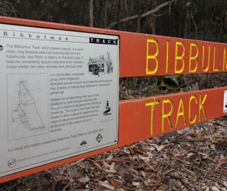 The Bibbulmun Track is easy to find at permitted access points.