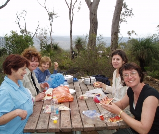 Lunch at Waalegh Campsite.
