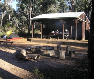 Enjoying the early morning sun at Canning Campsite.
