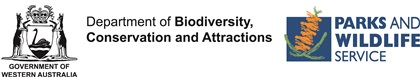 Parks and Wildlife Service at the Department of Biodiversity, Conservation and Attractions (DBCA) logo